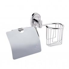 Настенный держатель для освежителя и туалетной бумаги с крышкой P2903-1
