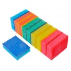 "Набор губок для мытья посуды ""Прима"" 10шт, 8х5х2,5см 441-081VETTA"