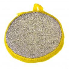 Губка для посуды поролон, d12см, 2 цвета, 1шт 441-150 VETTA