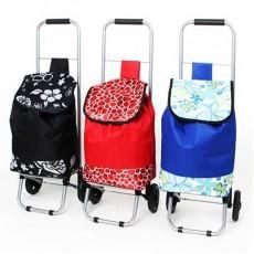 Тележка + сумка, грузоподъемность до 20кг,34х26х86см, колесо d15см, полиэстер, металл, 3 дизайна