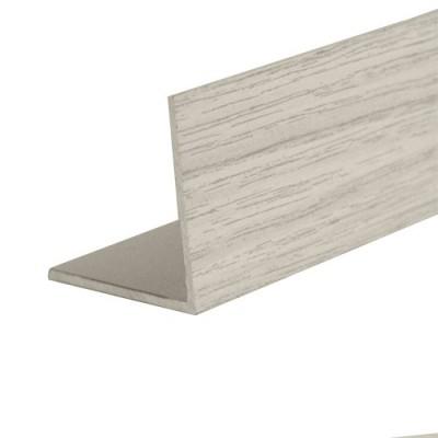 Порог-угол Д5 20х20мм алюминиевый декор Дуб арктический №105 длина 0,9м