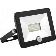 Прожектор светодиодный с встроенным датчиком 2835SMD, 50W 6400K AC220V/50Hz IP65, черный SFL80-50