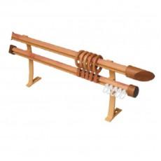 Карниз БК-202 Декор с деревянным наконечником 2м сосна золотая