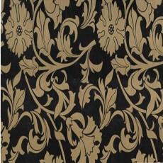Пленка самоклеящаяся COLOR DECOR 0,45х8м золотые цветы на черном фоне 8407