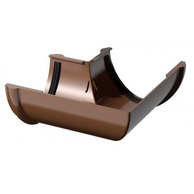 Угол желоба 90 градусов коричневый ПВХ