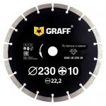 Алмазный диск сегментный по бетону и камню GRAFF 230х10х2.6х22,23мм