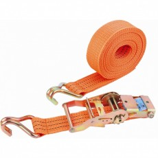 Ремень багажный с крюками, 0,05х6м, храповый механизм 54385