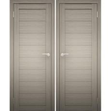 Дверное полотно АМАТИ-00 дуб дымчатый экошпон ПГ-700
