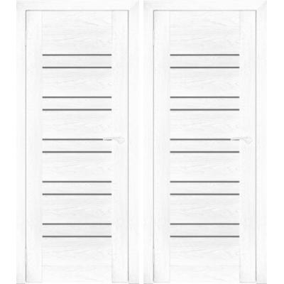 Дверное полотно АМАТИ-25 бьянко экошпон ПО-900 белое стекло