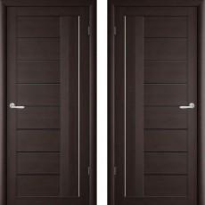 Дверное полотно экошпон Катрин-2 Палермо Венге ПО-600