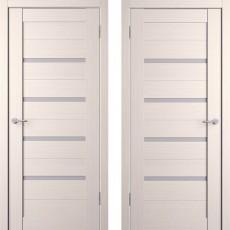 Дверное полотно экошпон Анкона 4 Кремовая лиственница ПО-600