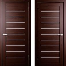 Дверное полотно экошпон Анкона 9 Венге ПО-600