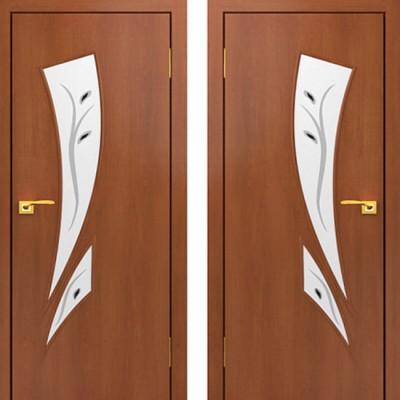 Дверное полотно С-02 Итальянский орех ПОФ-800