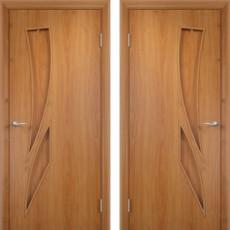 Дверное полотно С-02 миланский орех ПГ-700 (Геометрия)