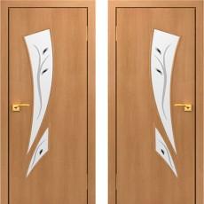 Дверное полотно С-02 Миланский орех ПОФ-700