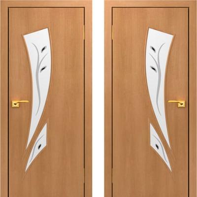 Дверное полотно С-02 Миланский орех ПОФ-800