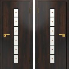 Дверное полотно остекленное С-12 Венге ПО-800