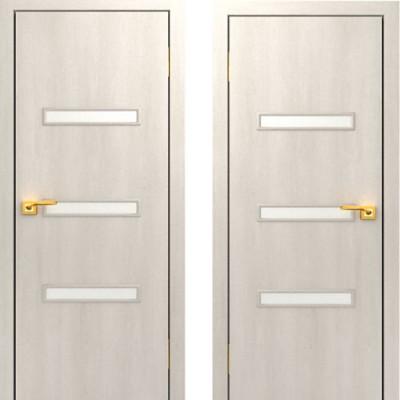 Дверное полотно остекленное С-36 Дуб беленый ПО-600
