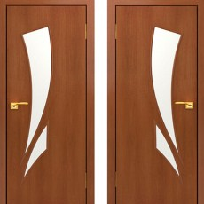 Дверное полотно С-02 Итальянский орех ПО-800