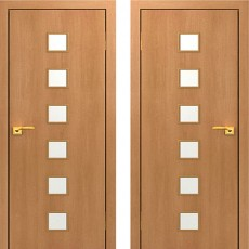 Дверное полотно С-09 Миланский орех ПО-700