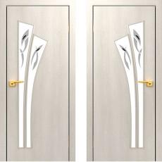 Дверное полотно остекленное С-07 Дуб беленый ПОФ-800