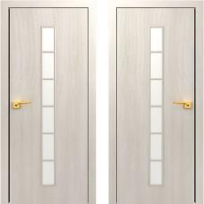 Дверное полотно остекленное С-12 Дуб беленый ПО-700