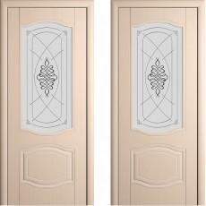 Дверь шпонированная Мария беленый дуб ПО-800