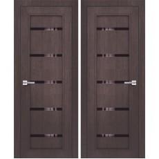 Дверь 3D покрытие ЭКОЛайт 1 Венге ДО-700 черное стекло