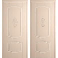 Дверь шпонированная Мария беленый дуб ПГ-900