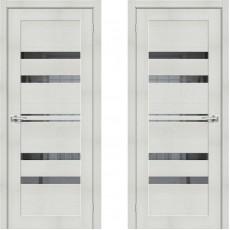 Дверь экошпон ЭКО Порта-30 ПО-600 Bianco Veralinga Mirox Grey