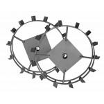 Грунтозацеп 600/130 для окучивания шестигранный 23мм (комплект 2 шт.) 71/3/56