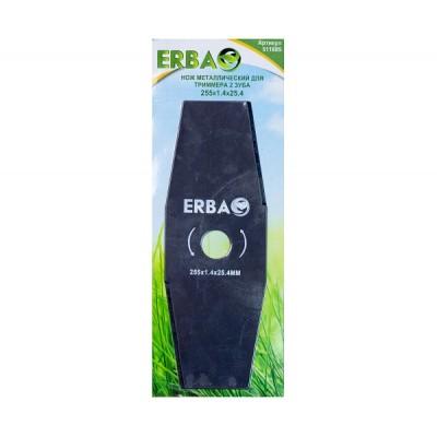 Нож металлический для триммера ERBA 2 зуба, 255*1.4*25.4мм