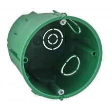 Коробка установочная для сплошных стен 68(65)х60 SchE IMT35101 зеленая