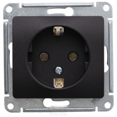 Розетка с заземляющим контактом Schneider Electric Glossa GSL001343 (16 А, под рамку, скрытая установка, графит)