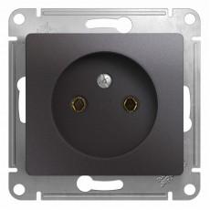 Розетка без заземляющего контакта Schneider Electric Glossa GSL001341 (16 A, под рамку, скрытая установка, графит)