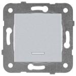 Выключатель 1-клавишный с подсветкой серебро WKTT00022SL-BY Panasonic