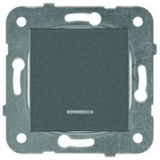 Выключатель 1-клавишный с подсветкой темно-серый (узел) WKTT00022DG-BY Panasonic