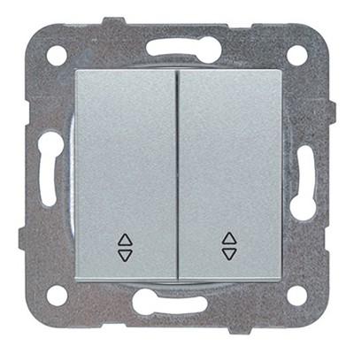 Выключатель 2-клавишный  серебро (узел) WKTT00092SL-BY Panasonic