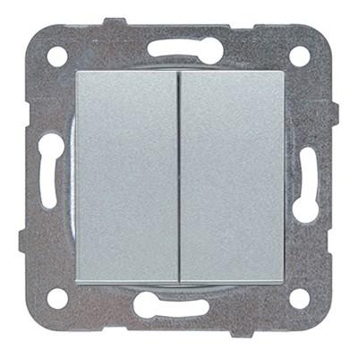 Выключатель 2-кл проходной серебро WKTT00112SL-BY Panasonic