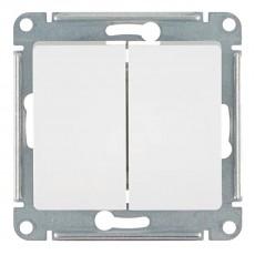 Выключатель двухклавишный Schneider Electric Glossa GSL000151 (10 А, под рамку, скрытая установка, белый)