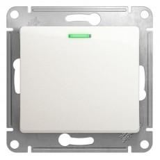 Механизм выключателя 1-клавишный СП GLOSSA 5а 10А IP20 10AX с подсветкой перламутровый SchE GSL000613