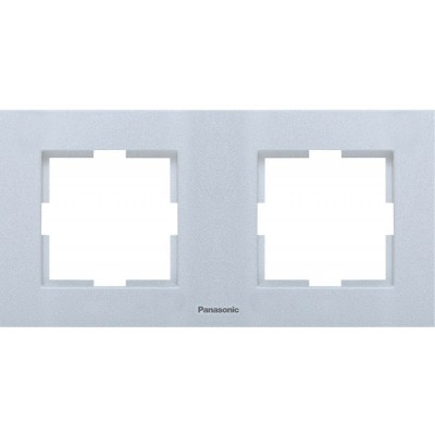 Рамка 2-х постовая универсальная сереброWKTF08022SL-BY Panasonic