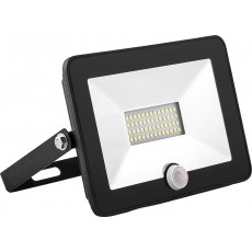 Прожектор светодиодный с встроенным датчиком 2835SMD, 30W 6400K AC220V/50Hz IP65, черный SFL80-30