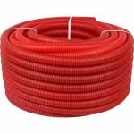 Труба гофрированная 25 красная RU-СТ (внутренний диаметр 19 мм, 50м)