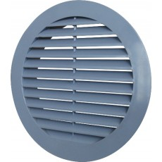 Решетка наружная ASA вентиляционная круглая D130 с фланцем D100, 10РКН серая