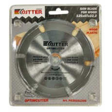"""Пильный диск для УШМ Ritter """"Optimcutter"""" 125*22,2 (дерево, пластик, гипсокартон)"""