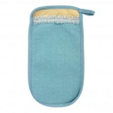 Мочалка «Королевский пилинг», рукавица с декором- тесьма, 14,5*25 см, в ассортименте 3 цвета Банные штучки