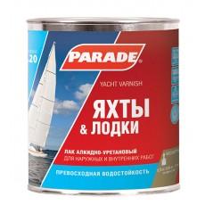 """Лак яхтный """"PARADE""""L-20 алкидно-уретановый глянцевый 0,75 л"""