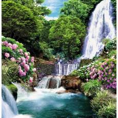 Декоративное панно Цветущий водопад 196х201 (6 листов)