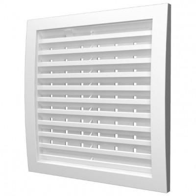 Решетка наружная ASA вентиляционная регулируемая 150х150, 1515РРПН белая